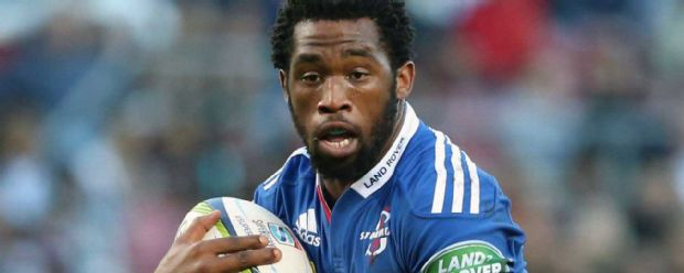 Siya Kolisi carries the ball forward for the Stormers against the Lions