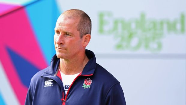 Stuart Lancaster looks on during the England Captain's Run