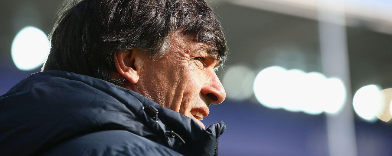 Daniel Hourcade, head coach of Argentina, looks on