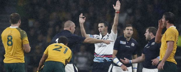 Craig Joubert awards the final penalty to Australia