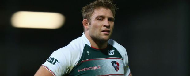Tom Youngs during the Aviva Premiership match between Exeter Chiefs and Leicester Tigers