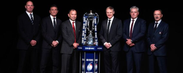 The coaches line up for the launch of the 2016 Six Nations