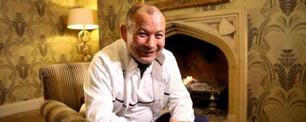 Eddie Jones, the England head coach, poses after the media session