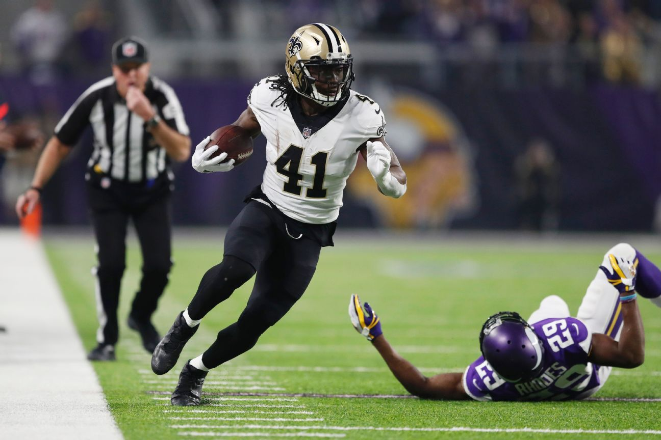 Alvin Kamara, RB, New Orleans Saints