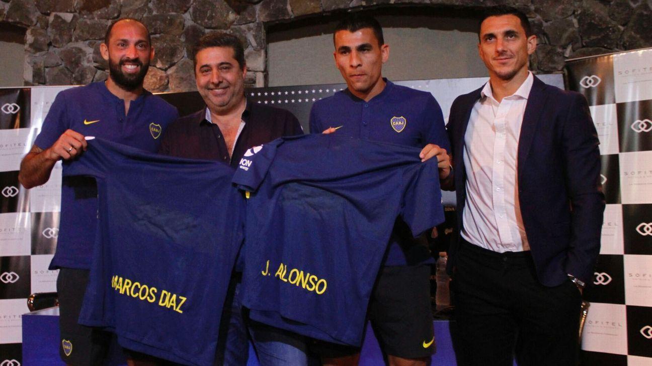 Junior Alonso y Marcos Díaz (Boca Juniors)