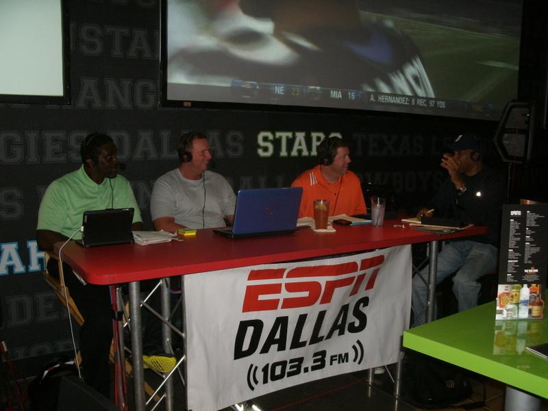 ESPN Dallas' Cowboys pregame show at Dave and Buster's