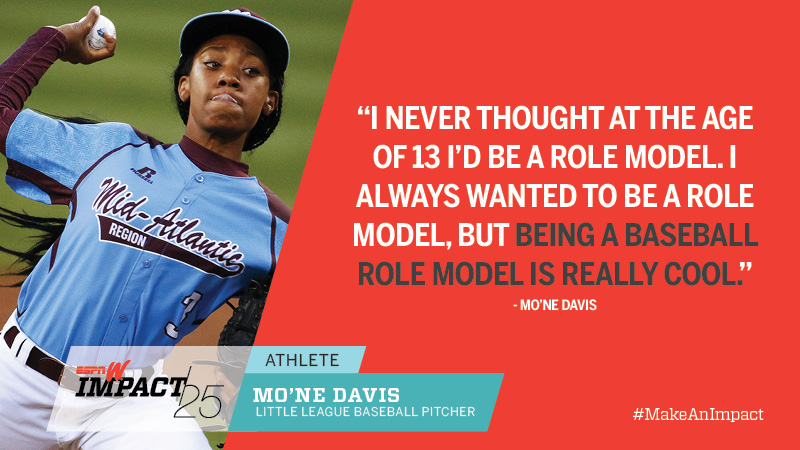 Mo'ne Davis, 13, Little League Baseball Pitcher