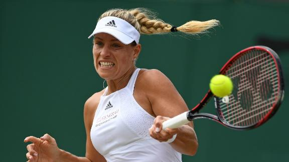 No. 1 Angelique Kerber rallies from set down to reach 4th round