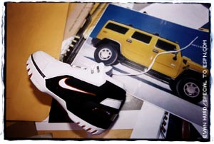The Hummer H2 inspired part of LeBron's new shoe.