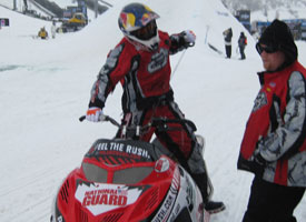 Levi LaVallee was back out on the track just after noon today. Brap, brap.