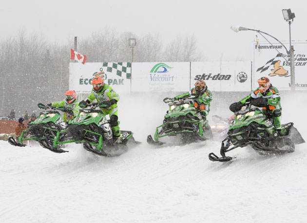 Start to finish, Arctic Cat had a strong showing in the Valcourt semi-pro Super Stock class.