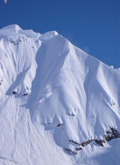 Seth Morrison, snow assessment run.