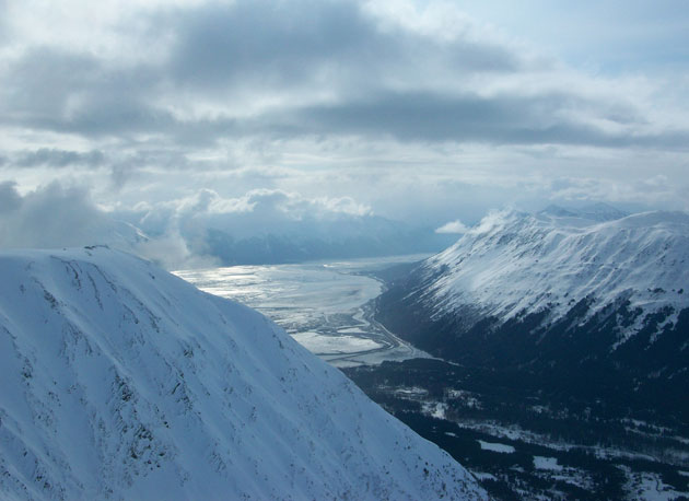Dutton sidenote: 'This is what it looked like from the top of the Alyeska venue, second day; it was around 7 p.m.'