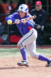 Amber Patton's .521 batting average is the NCAA's best.