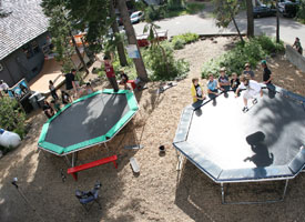 Trampolines, mini-ramps: Mt. Hood beats Boy Scout camp any day.