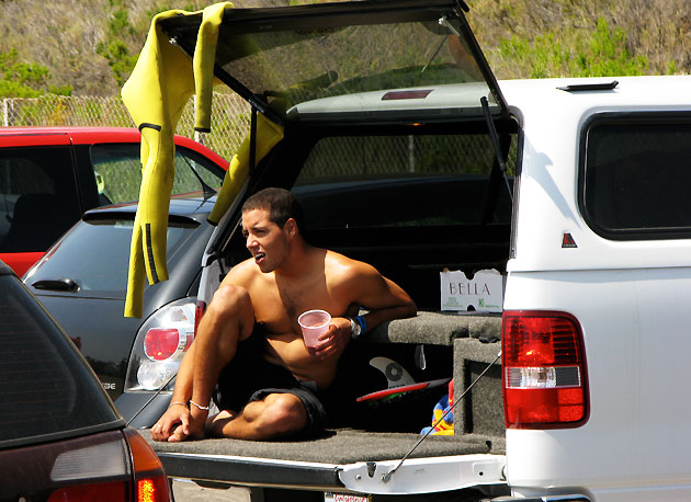 This year Adriano De Souza's based himself out of San Clemente, it's easier for all the travel, he explains. As you can see, he's feeling pretty comfortable and looking every bit the local.