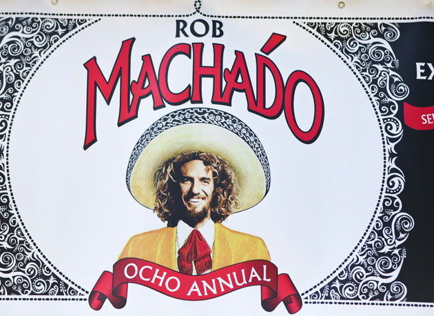 You just have to figure that any golf tournament put on by Rob Machado's going to have style...even if that style was borrowed from a jar of salsa.