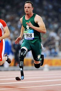 High-tech Blade Runner Oscar Pistorius will face former Olympic competitors as he aims to bring home aims a top-level qualifying time.