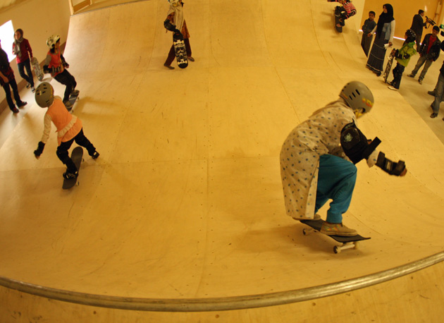 There were multiple milestones at the skate hall opening: the first time the Afghan kids skated the park, the construction of the largest indoor sports facility and skate park in Afghanistan and the world's first co-educational skateboarding school.