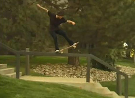 Jack Spanbauer powers a 5-0 through down through the kink and then gets chopped in half.