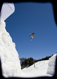Don't think she's distracted: Sladics won the Asian Open slopestyle event in 2009.