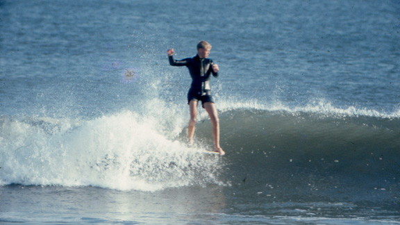 Mike Beschen with style to spare in Atlantic City, N.J., in 1969.