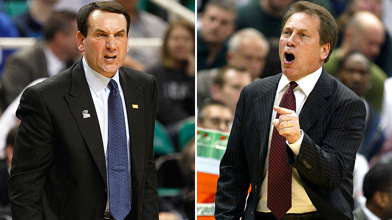 Coach K and Tom Izzo