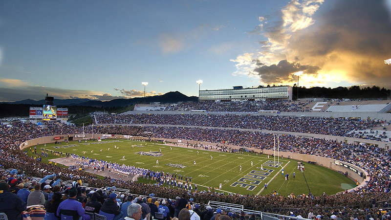 Falcon Stadium Sunset