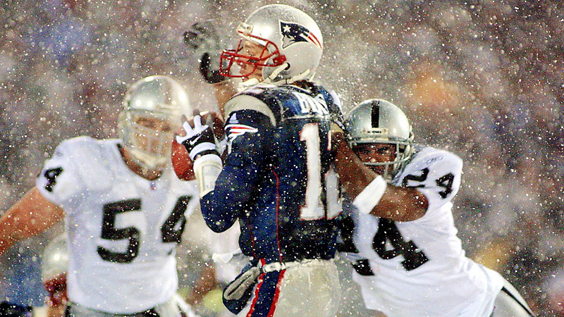 2001 Patriots and Raiders