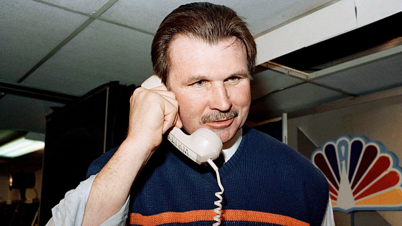 Ditka on Phone