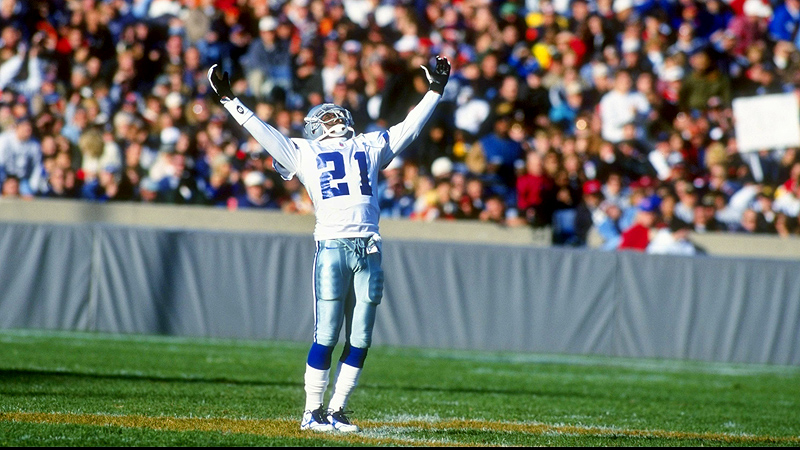 Deion Sanders, celebration