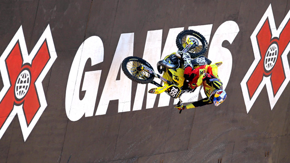 Travis Pastrana won two top honors for the 2010 FMX Awards; Rider of the Decade and Best American FMX Rider.
