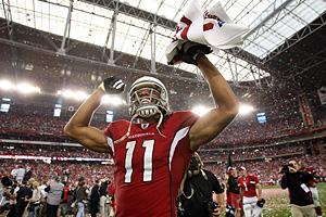Expect Larry Fitzgerald to revert to his dominant form with Carson Palmer getting him the ball.
