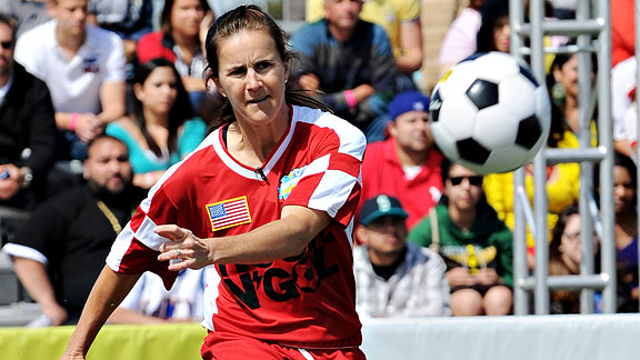 Brandi Chastain will be on the sidelines for this World Cup working as a studio analyst during ESPN's coverage.