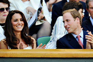 Britain's Andy Murray might have won, but Will and Kate were the star attractions on Monday.