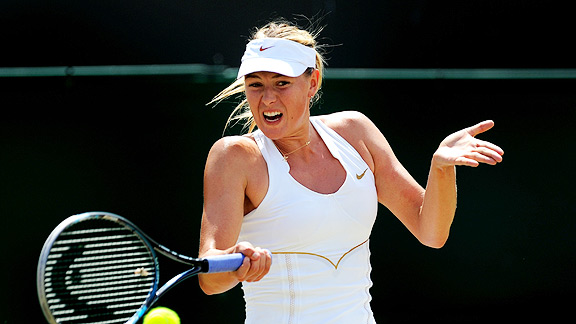Maria Sharapova had a strong showing in the French Open, too, advancing to the semifinals.
