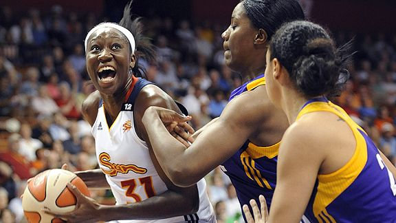 Tina Charles, left, is averaging 17.3 points and a league-leading 10.5 rebounds per game.