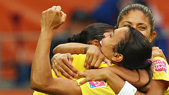 Fueled by two goals -- and a controversial moment -- from Marta, Brazil's beautiful game was too much for Norway.