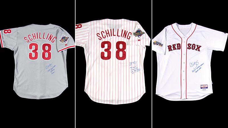 Curt Schilling jerseys