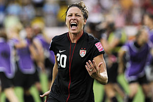 Abby Wambach had four goals at the 2011 Women's World Cup, including a clutch header in overtime against Brazil.