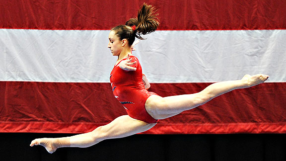 Jordyn Wieber edged Russia's Aliya Mustafina for the all-around title at the American Cup in March.