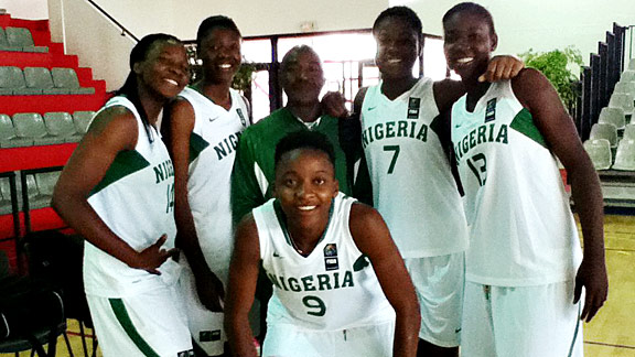 Members of the under-19 team from Nigeria. The team qualified for one of only two spots for the world championships, but wasn't able to go because they lacked funding and visas.