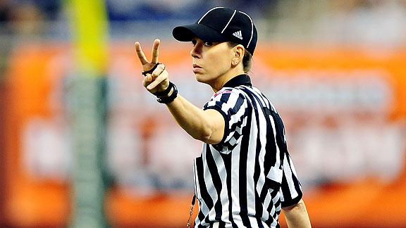 Sarah Thomas will enter her sixth season of collegiate officiating this fall.