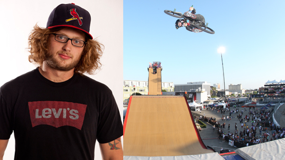 Personally, we feel that Zack has pushed himself in all areas of ramp riding within the past year, from inventing new box jump tricks (such as the 360 bike flip and backflip bike flip), to winning Mini Mega at Asian X, to gaining a few feet on vert airs.