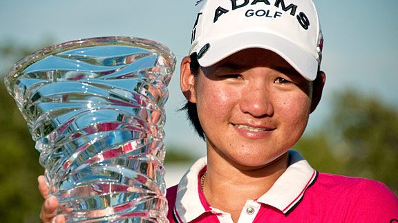 Yani Tseng was excited about her playoff victory Sunday in the NW Arkansas Championship.