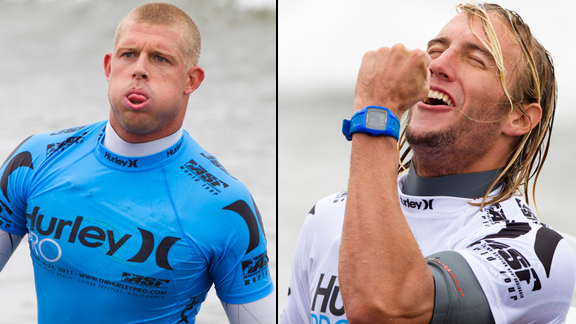 Mick Fanning and Owen Wright