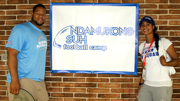 Off the field, Ndamukong Suh's sister Ngum calls the shots