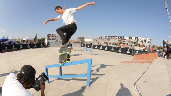 Collin Provost qualified first in pro/open street qualifying on Saturday in South Africa.