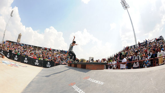 The street finals took place Sunday at the Maloof Money Cup South Africa.
