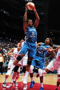 Taj McWilliams-Franklin, 40, won her first WNBA title in 2008 with the Detroit Shock.